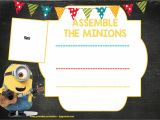 Children's Birthday Invitation Template Updated Bunch Of Minion Birthday Party Invitations Ideas