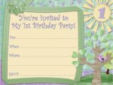 Childrens Birthday Invites Free Free Kids Printable Birthday Invitations