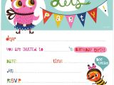 Childrens Birthday Invites Free Printable Birthday Invitations Coloring Kids