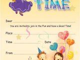 Childrens Birthday Party Invitation Templates 17 Kids Party Invitation Designs Templates Psd Ai