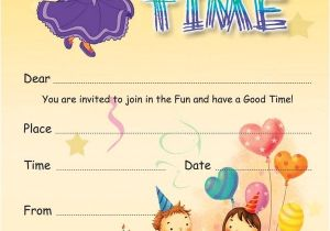 Childrens Birthday Party Invitation Templates 17 Kids Party Invitation Designs Templates Psd Ai