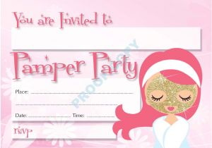 Childrens Pamper Party Invitations 22 Pamper Party Pack Of 10 Kids Children Birthday Party