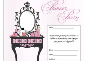 Childrens Pamper Party Invitations Pamper Party Invitation orderecigsjuice Info