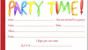 Childrens Party Invites Templates Uk Free Birthday Party Invites for Kids Free Printable