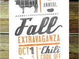 Chili Cook Off Party Invitation Chili Cook Off
