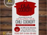 Chili Cook Off Party Invitation Chili Cookoff Invitations Fall Party Invitations Fall