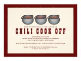 "Chili Cook Off Party Invitation Chili Pot Trio Chili Cook F Party Invitation 5"" X 7"