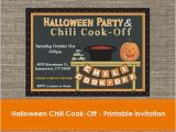 Chili Cook Off Party Invitation Halloween Chili Cook F Invitation Diy Printable
