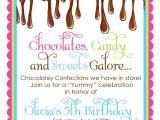 Chocolate Party Invitations Free Chocolate Candy Invitations Ooey Gooey Chocolate Sweet Shop