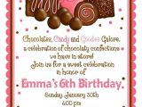 Chocolate Party Invitations Free Chocolate theme Invitations for A Birthday Party Drevio