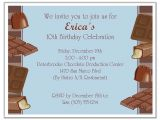 Chocolate Party Invitations Free Chocolate themed Birthday Party Invitations Blue Candy