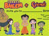 Chota Bheem theme Birthday Party Invitations Home Spun Around Friday Fun Time A Super Easy Chota