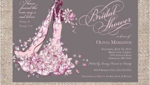 Christian Bridal Shower Invitations Elegant Christian Bridal Shower Invitation by