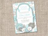 Christian Bridal Shower Invitations Items Similar to Floral Modern Christian Baby Boy Bridal