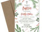 Christmas Baptism Invitations Christmas Baptism Invitation Holiday Christening Invite