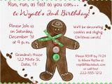 Christmas Caroling Party Invitations Gingerbread Holiday Birthday Invitation 1st Christmas