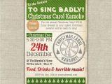 Christmas Caroling Party Invitations Printable Karaoke Christmas Party Invitation Carol 20 00