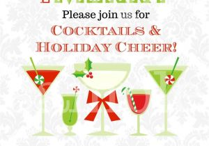 Christmas Cocktail Party Invitation Template Christmas Cocktails Invitation You Print Holiday Party