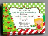 Christmas Cookie Decorating Party Invitations Free Christmas Invitation Printable or Printed with Free