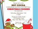 Christmas Cookie Decorating Party Invitations Free Items Similar to Christmas Hot Cocoa and Cookies