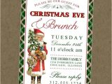 Christmas Eve Dinner Party Invitations Vintage Santa Printable Invitation Christmas Eve Brunch