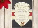 Christmas Eve Party Invitations Christmas Party Invitation Chalkboard Christmas Party