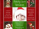 Christmas First Birthday Party Invitations Christmas Party Invitations Reindeer Birthday