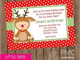 Christmas First Birthday Party Invitations First Birthday Christmas Party Invitation 1 00 Each with