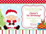 Christmas First Birthday Party Invitations First Birthday Christmas Party Invitation Christmas