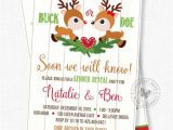 Christmas Gender Reveal Party Invitations Christmas Gender Reveal Invitation Deer Gender Reveal