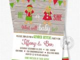 Christmas Gender Reveal Party Invitations Christmas Gender Reveal Invitation Gingerbread Invitation