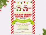 Christmas Gender Reveal Party Invitations Christmas Gender Reveal Invitation Snowmen Gender Reveal