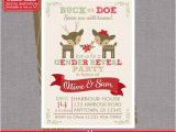 Christmas Gender Reveal Party Invitations Deer Gender Reveal Invitation Reindeer by Zoeybluedesigns