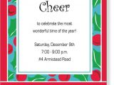 Christmas House Party Invitation Wording Potluck Poem Invite