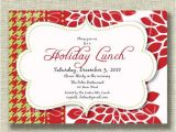 Christmas Lunch Party Invitation Wording Christmas Holiday Invitation Luncheon Open House by