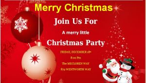 Christmas Party Invitation Cards Design Christmas Invitation Card Template Best Template Examples