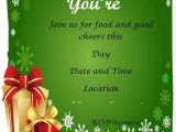 Christmas Party Invitation Samples Free 7 Best Images Of Christmas Party Free Printable Template