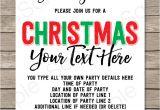 Christmas Party Invitation Template Editable Printable Christmas Party Invitations Christmas Party