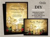 Christmas Party Invitations with Rsvp Cards Christmas Holiday Party Invitation with Rsvp Card