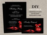 Christmas Party Invitations with Rsvp Cards Christmas Invitations with Rsvp Cards Printable Holiday