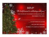 "Christmas Party Invitations with Rsvp Cards Festive Sparkle Xmas Tree Christmas Party Rsvp 3 5"" X 5"