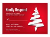 Christmas Party Invitations with Rsvp Cards Holiday Party Rsvp Template with Christmas Tree 3 5×5