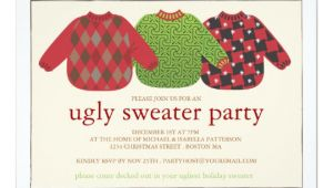 Christmas Party Invite Template Uk Ugly Christmas Sweater Party Invitation Zazzle Co Uk