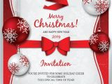 Christmas Party Invite Template Word 30 Christmas Invitation Templates Free Sample Example