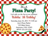 Christmas Pizza Party Invitations Pizza Party Invite