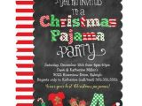 Christmas Pj Party Invitation Christmas Pajama Party Chalkboard Invitation Zazzle Com