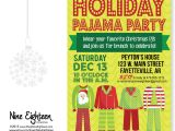 Christmas Pj Party Invitation Christmas Pajama Party Invitation Custom by Nineeighteen