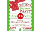 Christmas Pj Party Invitation Holiday Pajama Christmas Party Invitation Zazzle