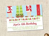 Christmas Pj Party Invitation Printable Holiday Pajama Party Invitations by