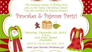 Christmas Slumber Party Invitations Christmas Pajama Party Invitations Home Party Ideas